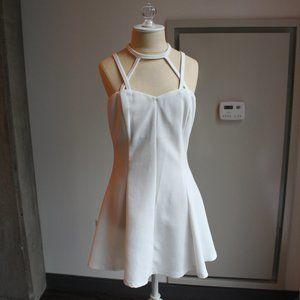 Tobi Ivory Caged Skater Dress